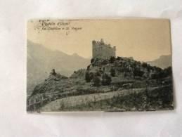 CARTOLINA CASTELLO D´USSEL (fra Chatillon E ST. Vincent VIAGGIATA DEL 1914 OTTIMO STATO - Ohne Zuordnung