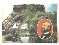 JARDINS DE LA TOUR EIFFEL ET EN MEDAILLON GUSTAVE EIFFEL - Tour Eiffel
