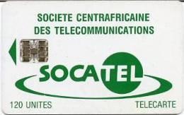 @+ RCA - SOCATEL 120U - Verso Tarifs Réduits - Centrafricaine (République)