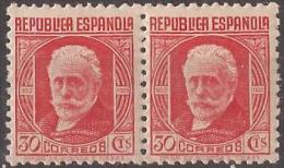 ES734-LA020TSC.España.Spa In .Espagne. CIFRA Y PERSONAJES.Pablo Iglesias.1936/38. (Ed 734**par) Sin Charnela,. MAGNIFICA - Sin Clasificación