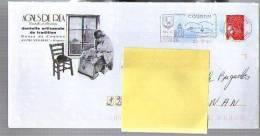 France Entier Postal PAP Agnès De Réa Volhac - Dentelle De Tradition Broderie - Flamme Coubon 25-06-2007 / Luquet - Entiers Postaux