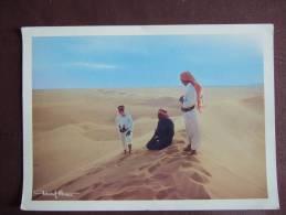SUD ARABIE / RUB AL KHALI DESERT/ BELLE CARTE PHOTO ANIMEE DE TCHEKOF MINOSA