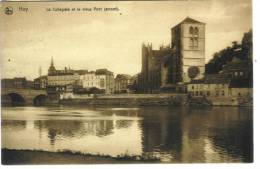 BELGIQUE - HUY - La Collégiale Et Le Vieux Pont (amont) - Huy