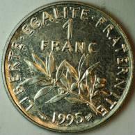 1 FRANC NICKEL SEMEUSE 1995 SUPERBE - France