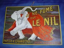 """Publicité Cartonnée PAPIER A CIGARETTES """"LE NIL"""" - Paperboard Signs"""