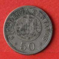 ANGOLA  50  CENTAVOS  1928   KM# 69  -    (1610) - Angola