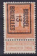 BELGIË - OBP - PREO - Nr 37 B - BRUSSEL 13  BRUXELLES - (*) - Typo Precancels 1912-14 (Lion)