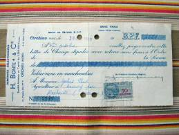 59 ORCHIES H. BONTE & CIE Semence  Billet A Ordre Pour 08 Cauroy Par Machault  Timbre Fiscal - Francia