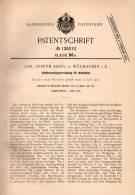 Original Patentschrift - L. Essel In Mühlhausen / Mulhouse I.E., 1902 , Métier A Tisser , Apparat Für Webstuhl , Weberei - Historische Dokumente