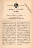 Original Patentschrift - M. Kuchenbecker In Freiburg I. Schlesien , 1894 , Ventilsteuerung , Dampfmaschine !!! - Historische Dokumente
