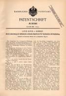 Original Patentschrift - Louis Kock In Hameln , 1895 , Taschenuhr - Repetierwerk , Uhr , Uhrmacher , Uhren !!! - Taschenuhren