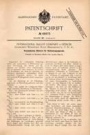 Original Patentschrift- Int. Ballot Company In Spencer , Worcester ,1895, Apparat Vote , Republican , Democrat , Senator - Tools