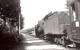 74 *  Une Photo De Deux Trains En Gare à Bonneville, En 1950 - Bonneville