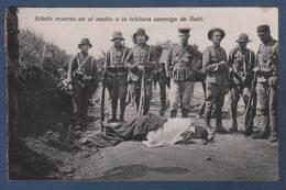 MILITARES - CP RIFEÑO MUERTO EN EL ASALTO A LA TRICHERA ENEMIGA DE SEBT - MAROC RIF - EDICION BOIX HERMANOS MELILLA - Otras Guerras