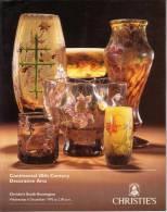 ARTS DECORATIFS 20 EME SIECLE - DECORATIVE ARTS 20 TH CENTURY - ART NOUVEAU - ART DECO - CATALOGUE CHRISTIE´S - 1995 - Livres, BD, Revues