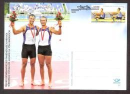 Olympic. 2008 Estonia  Postal Stationary Nr.47 FDC Olympic Silver Medallists Jüri Jaanson And Tõnu Endrekson - Estland