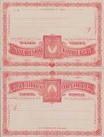 Honduras, 1900?, 2 Pk (Doppelkarte) Mit 2 Centavos Ganzsache ** - Honduras