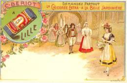 59 - Nord - Litho Couleur. Chicorée Extra Belle Jardinière, C. Bériot à Lille (fond Vert) - Unclassified