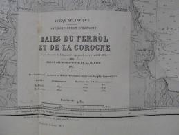 ESPAGNE - CARTE MARINE. - . BAIE DU FERROL ET DE LA COROGNE. - Cartes Marines