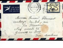 Enveloppe  13/06/1972  -  JOHANNESBURG  -  Timbre RSA Mouton  -  M.  PLAISANT  à  GOURNAY EN BRAY - Poste Aérienne