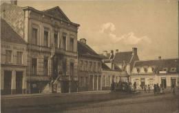 Ekeren :  Markt Met Oude Tramstatie En Oude Zondagsschool   (  HOELEN ) - Belgique