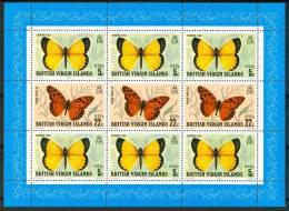 1998 British Virgin Island Fauna Farfalle Butterflies Schmetterlinge Papillons Block MNH** Spa249 - British Virgin Islands