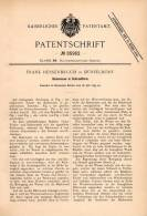 Original Patentschrift - F. Hessenbruch In Düsseldorf , 1895 , Badewanne In Schrankform , Möbel , Wanne , Schrank !!! - Möbel