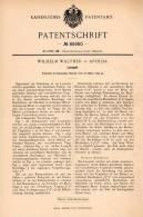 Original Patentschrift - W. Walther In Apolda , 1895 , Lesepult  Pult , Buch , Bücher , Bücherei !!! - Möbel