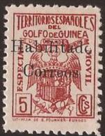 GUI259A-L4171TESSE. Guinee.GUINEA ESPAÑOLA.Sellos Fiscales Habilitados.1939/41.(Ed  259A**) Sin Charnela.MAGNIFICO.RARO - Sellos