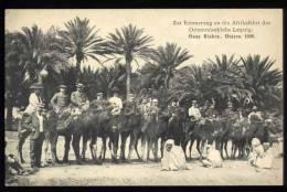 Cpa  Algérie Oase Biskra , Ostern 1908 Zur Erinnerung An Die Afrikafahrt Des Orientreiseklubs Leipzig    2LIO3 - Biskra