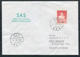 1969 Denmark Ronne SAS First Flight Cover - Denmark