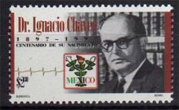 Dr.Ignacio Chávez Sánchez, Cardiologue Mexicain Celebre.  .   1 T-p Neuf ** 1997 - Mexico
