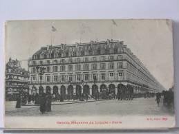 (75) - PARIS  - GRANDS MAGASINS DU LOUVRE - ANIMEE - 1909 - Altri Monumenti, Edifici
