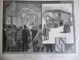La Comédie Française Aux Ponts De Cé , Gravure D'aprés Dessin De Vogel1887 - Documents Historiques