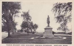 Maine Portland Thomas Brackett Reed Monument Western Promenade A