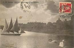 Fev13 1842 : Genève  -  Quai Du Mont-Blanc  -  Soleil Couchant  -  Cygne - GE Genève