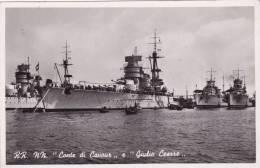 """RR. NN. """"CONTE DI CAVOUR"""" E """" GIULIO CESARE""""    AUTENTICA 100% - Barche"""