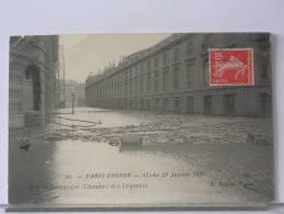 PARIS INONDE - CLICHE 29 JANVIER 1910 - RUE DE BOURGOGNE (CHAMBRE DES DEPUTES) - De Overstroming Van 1910