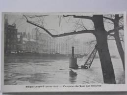 (75) - PARIS INONDE (JANVIER 1910) - VUE PRISE DU QUAI DES ORFEVRES - Arrondissement: 01