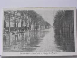 (75) - PARIS INONDE (JANVIER 1910) - AVENUE MONTAIGNE - ANIMEE - Arrondissement: 08