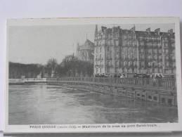 (75) - PARIS INONDE (JANVIER 1910) - MAXIMUM DE LA CRUE AU PONT SAINT LOUIS - Arrondissement: 12