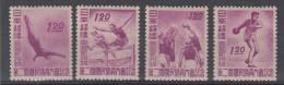 JAPAN MH* MICHEL 384/87 SPORT - 1926-89 Empereur Hirohito (Ere Showa)