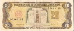 BILLETE DE REP. DOMINICANA DE 20 PESOS ORO DEL AÑO 1990 SERIE D (BANKNOTE) - República Dominicana