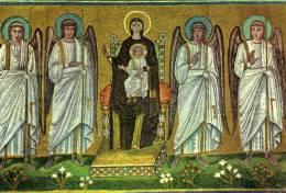 Ravenne Basilique De S. Apollinaire Nouveau La Ste Vierge Sur Le Trone Entre Les Anges-24- - Italia