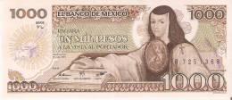 BILLETE DE MEXICO DE 1000 PESOS DEL AÑO 1983 (BANKNOTE) EBC+ - México