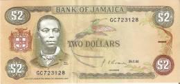 BILLETE DE JAMAICA DE 2 DOLLARS DEL AÑO 1992    (BANKNOTE) - Jamaica