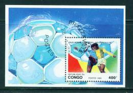 CONGO (BRAZZAVILLE) - 1993 Football World Cup Miniature Sheet 400f Used As Scan - Congo - Brazzaville