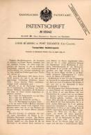 Original Patentschrift - L. Bülbring In Port Elizabeth , 1895 , Portable Hand Drill !!! - Tools