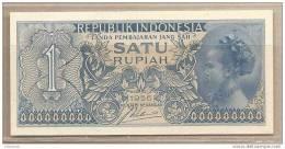 Indonesia - Banconota Non Circolata Da 1 Rupia - 1956 - Indonésie