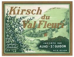 Ancienne Etiquette Kirsch Du Val Fleuri, Alias St. Guidon - Etiquetas